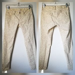 Ann Taylor LOFT | Yellow Cheetah Print Pants 00P